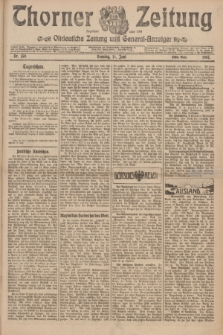 Thorner Zeitung : Ostdeutsche Zeitung und General-Anzeiger. 1907, Nr. 139 (16 Juni) - Erstes Blatt + dod.