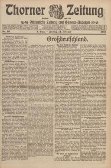 Thorner Zeitung : Ostdeutsche Zeitung und General-Anzeiger. 1919, Nr. 38 (14 Februar) + dod.