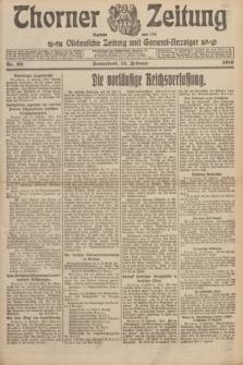 Thorner Zeitung : Ostdeutsche Zeitung und General-Anzeiger. 1919, Nr. 39 (15 Februar)