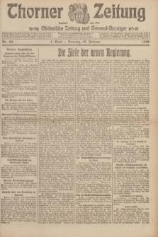Thorner Zeitung : Ostdeutsche Zeitung und General-Anzeiger. 1919, Nr. 40 (16 Februar) + dod.