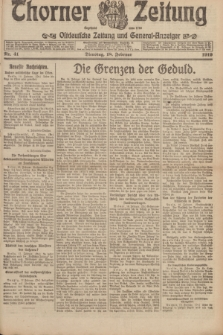 Thorner Zeitung : Ostdeutsche Zeitung und General-Anzeiger. 1919, Nr. 41 (18 Februar)