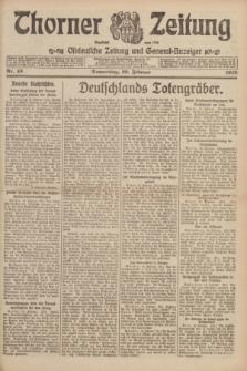 Thorner Zeitung : Ostdeutsche Zeitung und General-Anzeiger. 1919, Nr. 43 (20 Februar)