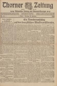 Thorner Zeitung : Ostdeutsche Zeitung und General-Anzeiger. 1919, Nr. 44 (21 Februar) + dod.