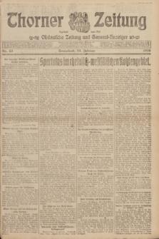 Thorner Zeitung : Ostdeutsche Zeitung und General-Anzeiger. 1919, Nr. 45 (22 Februar)