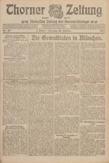 Thorner Zeitung : Ostdeutsche Zeitung und General-Anzeiger. 1919, Nr. 46 (23 Februar) + dod.