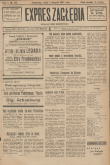 Expres Zagłębia : niezależny organ demokratyczny. R.2, № 178 (3 sierpnia 1927)