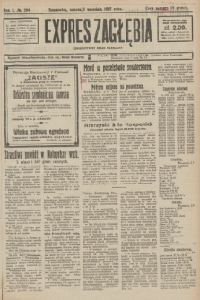 Expres Zagłębia : demokratyczny organ niezależny. R.2, № 204 (3 września 1927)