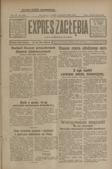 Expres Zagłębia : organ demokratyczny niezależny. R.3, nr 262 (8 listopada 1928)