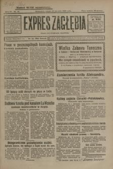 Expres Zagłębia : organ demokratyczny niezależny. R.4, nr 19 (19 stycznia 1929)