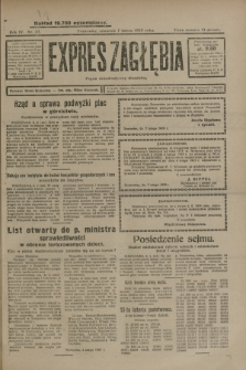 Expres Zagłębia : organ demokratyczny niezależny. R.4, nr 37 (7 lutego 1929)