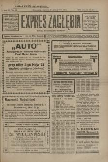 Expres Zagłębia : organ demokratyczny niezależny. R.4, nr 74 (17 marca 1929)