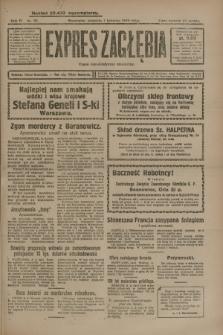 Expres Zagłębia : organ demokratyczny niezależny. R.4, nr 92 (7 kwietnia 1929)