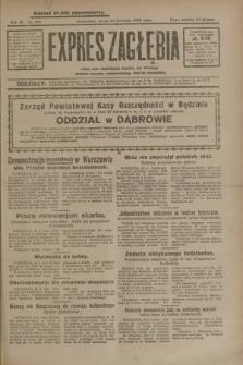 Expres Zagłębia : jedyny organ demokratyczny niezależny woj. kieleckiego. R.4, nr 109 (24 kwietnia 1929)