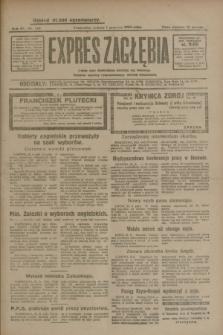 Expres Zagłębia : jedyny organ demokratyczny niezależny woj. kieleckiego. R.4, nr 143 (1 czerwca 1929)