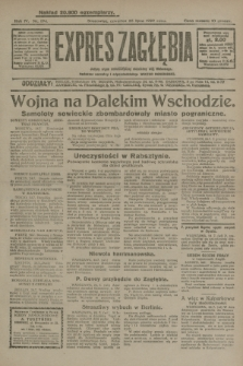 Expres Zagłębia : jedyny organ demokratyczny niezależny woj. kieleckiego. R.4, nr 194 (25 lipca 1929)