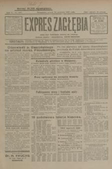 Expres Zagłębia : jedyny organ demokratyczny niezależny woj. kieleckiego. R.4, nr 249 (24 września 1929)