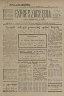 Expres Zagłębia : jedyny organ demokratyczny niezależny woj. kieleckiego. R.4, nr 256 (1 października 1929)
