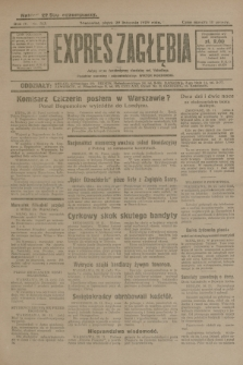 Expres Zagłębia : jedyny organ demokratyczny niezależny woj. kieleckiego. R.4, nr 313 (29 listopada 1929)