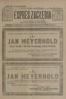 Expres Zagłębia : jedyny organ demokratyczny niezależny woj. kieleckiego. R.4, nr 322 (8 grudnia 1929)