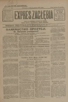 Expres Zagłębia : jedyny organ demokratyczny niezależny woj. kieleckiego. R.4, nr 325 (11 grudnia 1929)