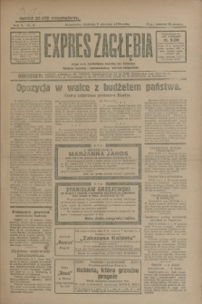 Expres Zagłębia : jedyny organ demokratyczny niezależny woj. kieleckiego. R.5, nr 5 (5 stycznia 1930)