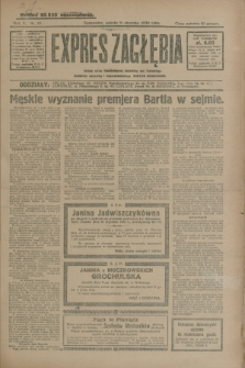Expres Zagłębia : jedyny organ demokratyczny niezależny woj. kieleckiego. R.5, nr 10 (11 stycznia 1930)