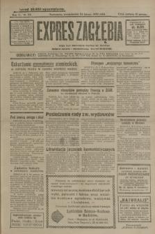 Expres Zagłębia : jedyny organ demokratyczny niezależny woj. kieleckiego. R.5, nr 53 (24 lutego 1930)