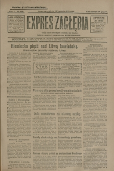 Expres Zagłębia : jedyny organ demokratyczny niezależny woj. kieleckiego. R.5, nr 100 (12 kwietnia 1930)