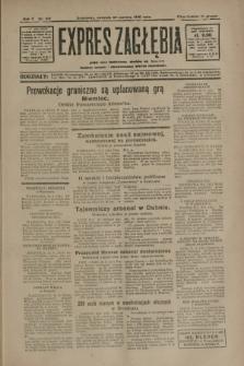 Expres Zagłębia : jedyny organ demokratyczny niezależny woj. kieleckiego. R.5, nr 162 (22 czerwca 1930)