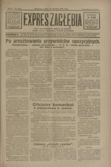 Expres Zagłębia : jedyny organ demokratyczny niezależny woj. kieleckiego. R.5, nr 234 (12 września 1930)