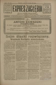 Expres Zagłębia : jedyny organ demokratyczny niezależny woj. kieleckiego. R.5, nr 249 (27 września 1930)