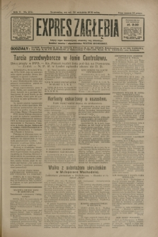 Expres Zagłębia : jedyny organ demokratyczny niezależny woj. kieleckiego. R.5, nr 252 (30 września 1930)