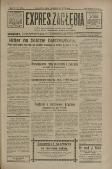 Expres Zagłębia : jedyny organ demokratyczny niezależny woj. kieleckiego. R.5, nr 253 (1 października 1930)