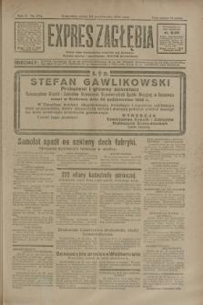 Expres Zagłębia : jedyny organ demokratyczny niezależny woj. kieleckiego. R.5, nr 276 (24 października 1930)