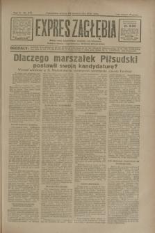 Expres Zagłębia : jedyny organ demokratyczny niezależny woj. kieleckiego. R.5, nr 277 (25 października 1930)