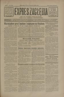 Expres Zagłębia : jedyny organ demokratyczny niezależny woj. kieleckiego. R.5, nr 314 (2 grudnia 1930)