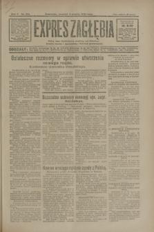 Expres Zagłębia : jedyny organ demokratyczny niezależny woj. kieleckiego. R.5, nr 316 (4 grudnia 1930)