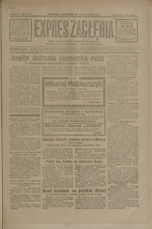 Expres Zagłębia : jedyny organ demokratyczny niezależny woj. kieleckiego. R.5, nr 333 (22 grudnia 1930)