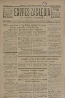Expres Zagłębia : jedyny organ demokratyczny niezależny woj. kieleckiego. R.6, nr 1 (1 stycznia 1931)