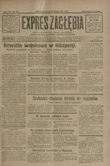Expres Zagłębia : jedyny organ demokratyczny niezależny woj. kieleckiego. R.6, nr 48 (18 lutego 1931)