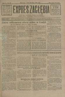 Expres Zagłębia : jedyny organ demokratyczny niezależny woj. kieleckiego. R.6, nr 58 (28 lutego 1931)