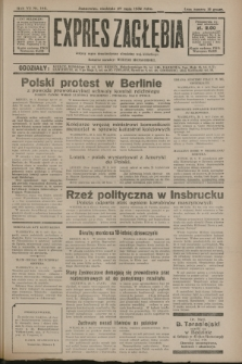 Expres Zagłębia : jedyny organ demokratyczny niezależny woj. kieleckiego. R.7, nr 146 (29 maja 1932)