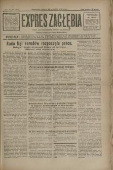 Expres Zagłębia : jedyny organ demokratyczny niezależny woj. kieleckiego. R.7, nr 263 (24 września 1932)