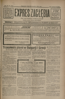 Expres Zagłębia : jedyny organ demokratyczny niezależny woj. kieleckiego. R.7, nr 267 (28 września 1932)