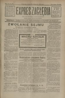 Expres Zagłębia : jedyny organ demokratyczny niezależny woj. kieleckiego. R.7, nr 297 (29 października 1932)