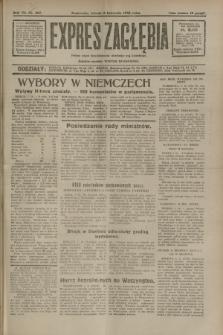 Expres Zagłębia : jedyny organ demokratyczny niezależny woj. kieleckiego. R.7, nr 307 (8 listopada 1932)