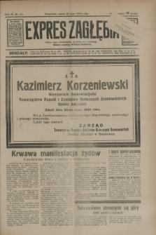Expres Zagłębia : jedyny organ demokratyczny niezależny woj. kieleckiego. R.9, nr 141 (25 maja 1934)