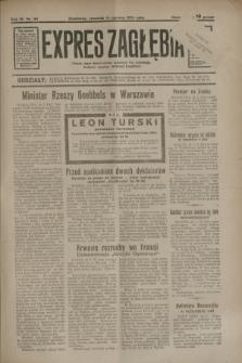 Expres Zagłębia : jedyny organ demokratyczny niezależny woj. kieleckiego. R.9, nr 161 (14 czerwca 1934)