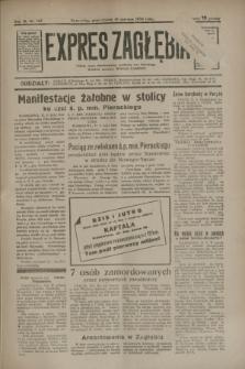 Expres Zagłębia : jedyny organ demokratyczny niezależny woj. kieleckiego. R.9, nr 165 (18 czerwca 1934)