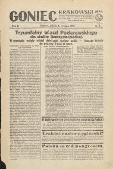 Goniec Krakowski. 1919, nr4